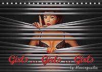Girls ... Girls ... Girls by Mausopardia (Tischkalender 2022 DIN A5 quer): Sexy Girls im Retro Style der 60er Jahre (Artwork). (Monatskalender, 14 Seiten )