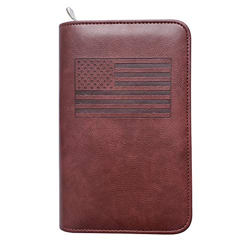 Phone Charging Passport Holder -Multiple Variations with New and Improved Removable Power Bank- RFID Blocking - Travel Wallet Compatible with All Phones - Travel Accessories (Brown USA)
