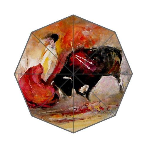Flipped Summer Y gespiegelt Sommer Y Gemälde von Stierkampf in Spanien Art Prints Regenschirm