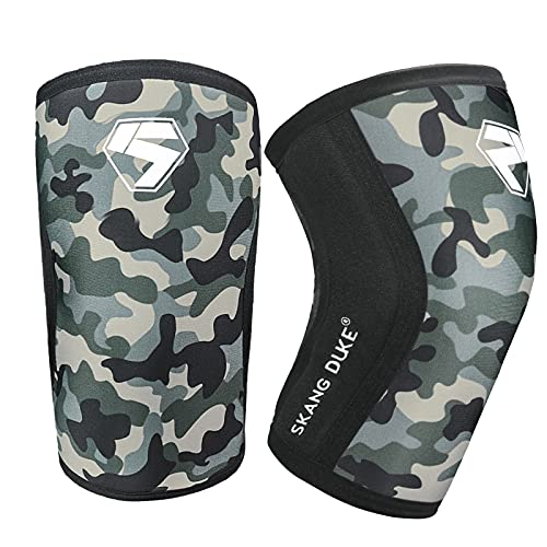 SKDK Knee Brace/Elbow Brace 7MM Knee Compression Sleeve for Knee Support and Pain Relief for Weightlifting, Cross Training for Men Women – Home Gym Workout/ExerciseEquipment(1 pair) (Knee Brace,M)