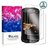 Ycloud [3 Pack] Protector de Pantalla para AGM A8,[9H Dureza/0.3mm],[Alta Definicion] Cristal Vidrio Templado Protector para AGM A8