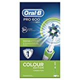 Spazzolino elettrico ricaricabile Oral-B PRO 600 CrossAction Green Edition Braun, battery, 3d effect;heads included:1;timer:yes;two minute timer