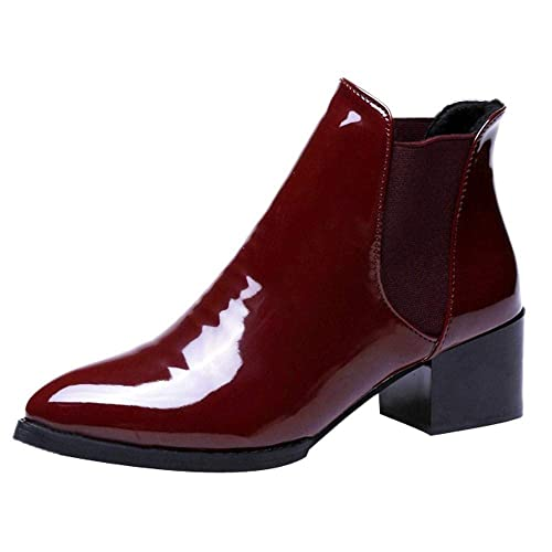 06138e6a Patent Ankle Boots: Amazon.co.uk