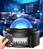 Star Projectors 2 in 1 Galaxy Projector, Night Light Projector for Bedroom, Starlight Projector Ocean Wave Projector for Kids & for Ceiling for Adults with Bluetooth Speaker, Home Ambiance Lamp