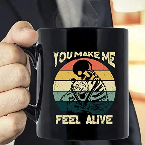 Vintage Skeleton Hug Pitbull You Make Me Feel Alive, Pitbull Mom, Dog...