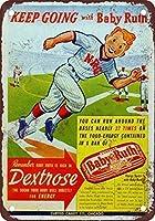 レトロなメタルサイン/プラークノベルティギフト赤ちゃんのルースと野球-最高のメタルサインレトロな家の装飾バーパブの家のビンテージティンサインポスター