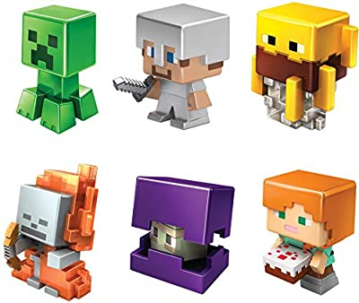Minecraft All-Stars Mini Figure Six-Pack, Great for Playing, Trading, and Collecting, Action and Battle Toy for Boys and Girls Age 6 and Older, Multi (GND42) from Mattel