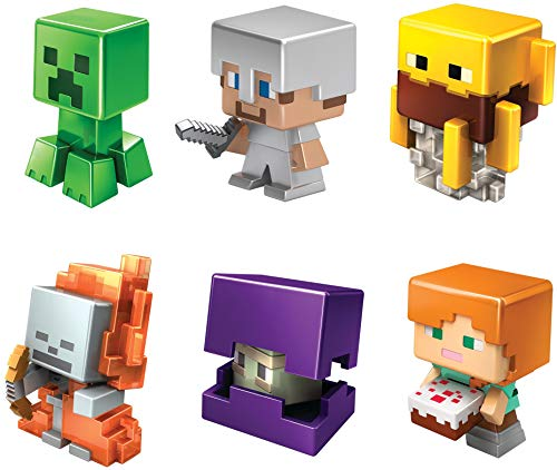 Minecraft All-Stars Mini Figure Six-Pack, Great for Playing, Trading, and Collecting, Action and Battle Toy for Boys and Girls Age 6 and Older, Multi (GND42)