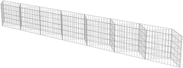 Nishore Gabion Wall Outdoor Garden Planter Stone Basket Raised Bed Galvanized Steel 177.2