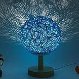 Mesita de Noche proyector de Estrella romántica luz de Noche Creativa Regalo de cumpleaños INS atenuación Guita Bola Bola de ratán lámpara de Mesa 20 cm