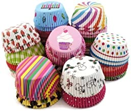 Royals Fancy Color Muffin Paper Cups/Liners (Single/Assorted Color/Prints) - 300 Pcs