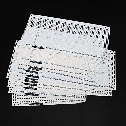 Tutoy 15Pcs Pre Punched Card Kit Für Kh260 Knitting Nadelarbeit Maschinenbruter