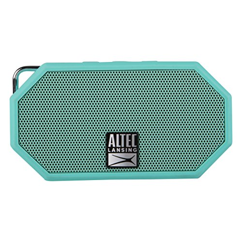 Altec Lansing Mini H2O - Wireless Bluetooth Waterproof Speaker, Floating, IP67, Portable, Strong Bass, Rich Stereo System, Microphone, 30 ft Range, Lightweight, 6-Hour Battery, Mint (IMW257-MNT-GRP)
