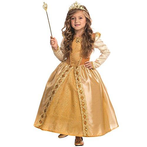 Dress Up America Majestueux Costume Princesse Dorée pour Filles