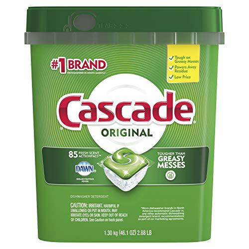 Price comparison product image Cascade ActionPacs Dishwasher Detergent,  Fresh Scent,  85-Count
