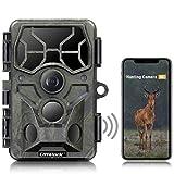 [2021 NEUESTE] Campark WLAN Wildkamera Echt 4K 30MP Bluetooth Jagdkamera mit Infrarot Nachtsicht Bewegungsmelder Wasserdicht IP66 für Wildtierüberwachung mit 120°Weitwinkel