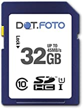 Dot Foto 32Gb SDHC UHS-1 Class  45Mb s  card for Sony Cyber-shot DSC-H55  DSC-H70  DSC-H90  DSC-H200  DSC-H300  DSC-H400  DSC-HX5  DSC-HX5V  DSC-HX7  DSC-HX7V  DSC-HX9  DSC-HX9V  DSC-HX5  DSC-HX5V  DSC-HX10  DSC-HX10V  DSC-HX20V  DSC-HX30  DSC-HX30V