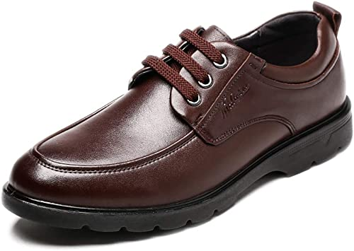 LXLA- Chaussures De Sport en Cuir pour Hommes Hommes Chaussures à Lacets pour Hommes (Couleur   marron, Taille   9.5 US 8.5 UK)