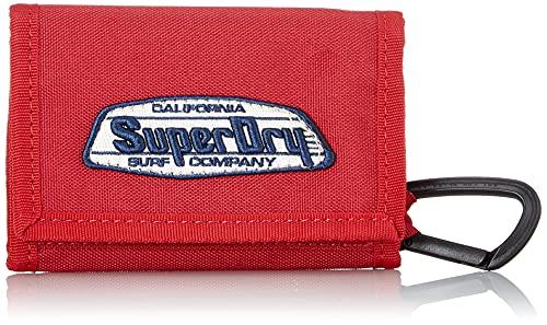 Superdry Velco Wallet, Sundries. para Hombre, Cali Rouge, Einheitsgröße