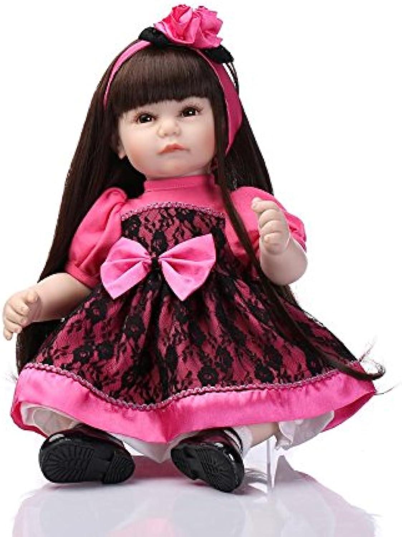NPK Collection Reborn Baby Doll Soft Silicone 21inch 52cm Long Hair Girl Doll Lifelike Cute Boy Girl Toy Princess Dress Kids Playhouse Doll