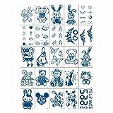 VIPITH タトゥーシール 25枚入 アニメ 漫画 くまちゃん 人形 刺青 防水 長持ち 刺青シール 宇宙 星 月 かわいい ボディーシール 5x7cm 背中に簡単貼る 写真集 仮装グッズ