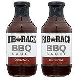 Rib Rack All Natural BBQ Sauce, Original - 2 Count (Packaging May Vary)