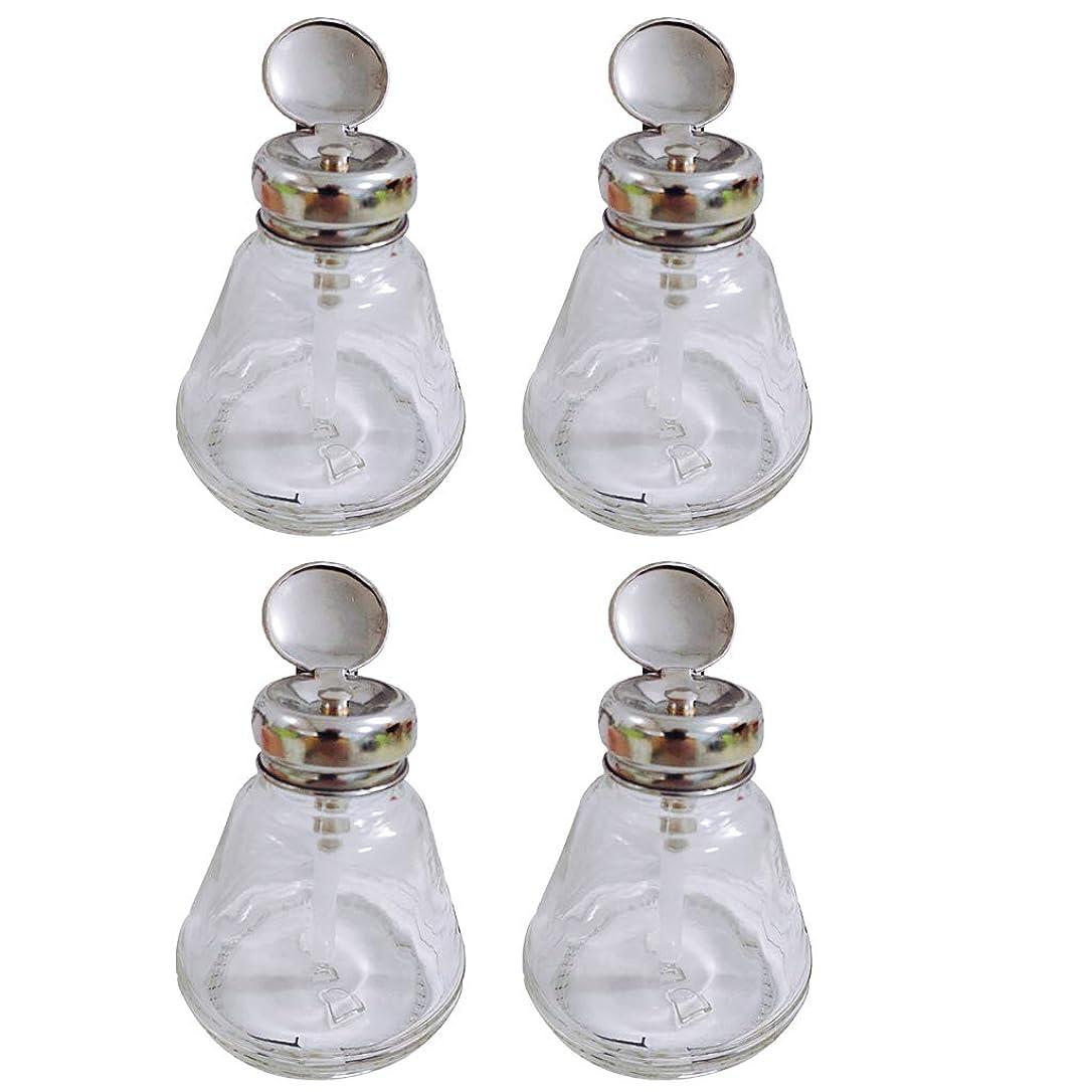 アウター一般的に言えば初期のネイルアート プレスボトル ポンプボトル ポンプディスペンサー マニキュア 逆流防止 ガラス製