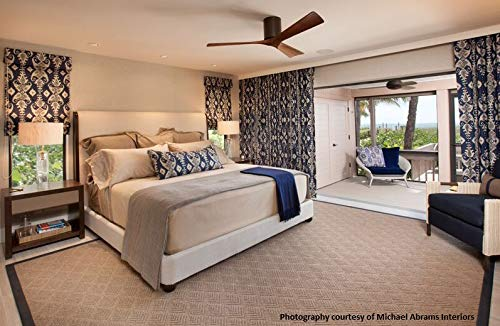 """Matthews IR3H-WH-BW-42 Irene Indoor/Outdoor Damp Location 42"""" Hugger Ceiling Fan with Remote & Wall Control, 3 Wood Blades, Gloss White"""