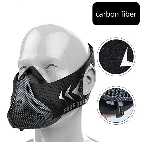 Máscara de bloqueo de oxígeno fitness masculino correr máscara de e