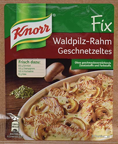 Knorr Fix Waldpilz-Rahm Geschnetzeltes 3 Portionen (1 x 40 g)