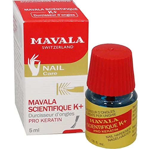 Mavala Científico K+ Endurecedor de Uñas Tratamiento para Evitar que las Uñas se Rompan o se Separen, 5 ml