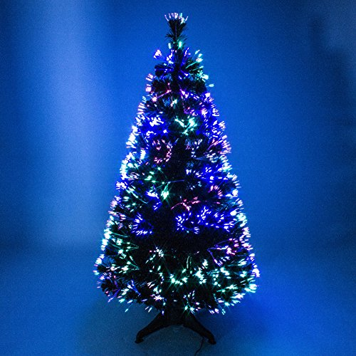 4ft Green Artificial Fibre Optic Christmas Xmas Tree with Multi LED Source 120cm by The Christmas Centre
