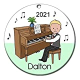 Piano Recital Personalized Ornament - Blonde Haired Boy