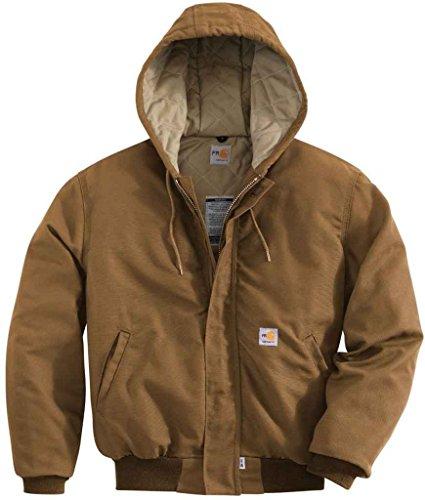 Carhartt Men's Flame Resistant Canvas Active Jacket, Brown, Large