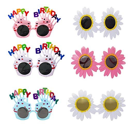 LKMING 12 Paar Partybrillen Happy Birthday,Lustige Spaßbrillen für Geburtstag Alles Gute Zum Geburtstag Sonnenbrille,Kinder Party Papier Brillen Geburtstag Brille Fotografie Requisiten für Kinder
