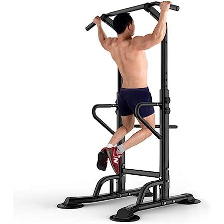 HOMCOM Estación Dip de Musculación Tipo Barras Soporte para ...