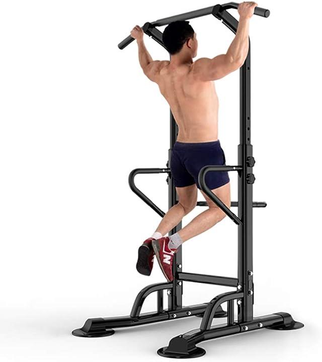 Sbarra per trazioni power tower stazione fitness multifunzione per allenarsi a casa dip station dlandhome B07VRCTTSK