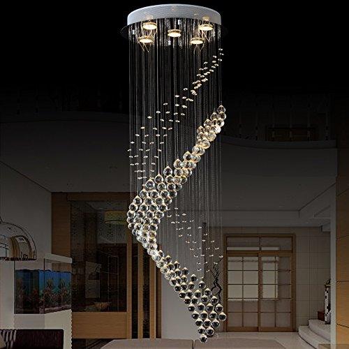Newrays Modern Royal Crystal Chandelier K9 Raindrop Luz de techo para sala de estar Pasillo del hotel Vestíbulo Entrada Escalera(C6069)
