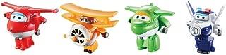 "Super Wings US710610 Transform-A-Bots, Jett, Paul, Mira, Grand Albert, Toy Figures, 2"" Scale"