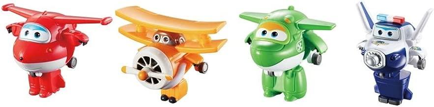 Super Wings US710610 Transform-A-Bots, Jett, Paul, Mira, Grand Albert, Toy Figures, 2