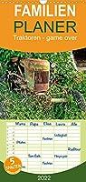 Traktoren - game over - Familienplaner hoch (Wandkalender 2022 , 21 cm x 45 cm, hoch): Traktoren-Oldtimer, ausgedient, aber nicht im ehrenvollen Ruhestand. (Monatskalender, 14 Seiten )