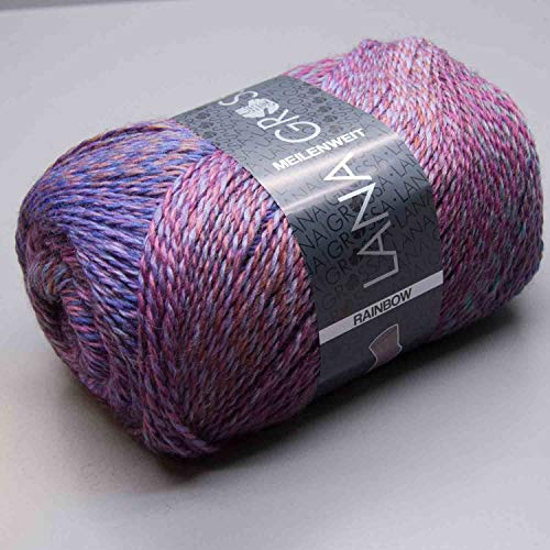 MEILENWEIT 6-fach 150g Rainbow 106 - Lila/Pink/Braun/Petrol