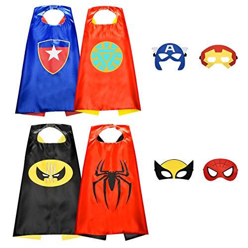 Easony Spielzeug 5 Jahre Junge,Superhelden Kinderkostüm Jungen Geschenke 3-12 Jahre Spielzeug für Jungen Mädchen 3-12 Jahre Cosplay Kostüm für Junge 3-12 Jahre Kinderkostüme Jungen Kinderspielzeug