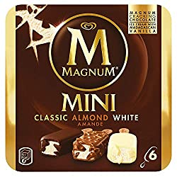 Magnum Mini Assorted (Almond, Classic, White) Multipack Ice Cream Stick, 55ml (Pack of 6) - Frozen