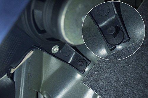 Ginsco 102pcs 6.3mm 8mm 9mm 10mm Nylon Bumper Push Fasteners Rivet Clips Expansion Screws Replacement Kit