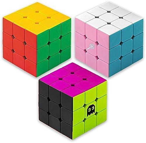marca en liquidación de venta Prismatic Puzzle Pack  Original, Sweets Mod, and 80s Mod Mod Mod 3 x 3 Stickerless Speed Cubes by Brybelly by Brybelly  venta al por mayor barato