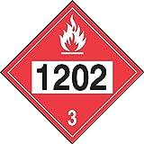 Accuform Hazard Class 3, 1202 (Diesel Fuel),...