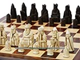 Berkeley Chess Isle of Lewis Chess Set (Cream and Brown, Board Not Included)