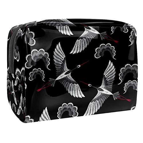 Tizorax Kosmetiktasche für Frauen, niedliches Schaf, rosa Reise-Kulturbeutel, große PVC-Make-up-Tasche, Organizer mit Reißverschluss muster 2 18.5x7.5x13cm/7.3x3x5.1in