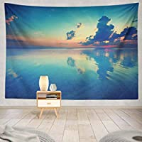 ANLAI 朝日ビーチ壁掛けタペストリー ンンド 壁飾り 家 リビングルーム ベッドルーム 部屋 おしゃれ飾り 200cm x150cm